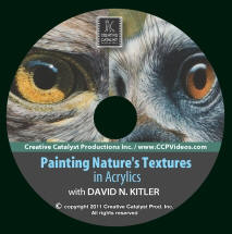 Art Instructional DVD - Painting Nature's Textures in Acrylics